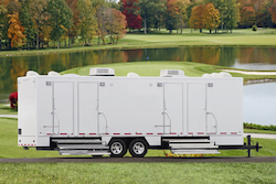 Exterior of Elegance Series 10-Station Restroom Trailer