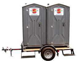 Dual Mounted Trailer Portable Toilets