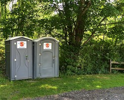 Standard and Handicap accessible porta potties in Oak Grove Park in Hudson