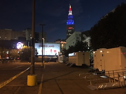 Restroom and Shower Trailers at the Republican National Convention in Cleveland