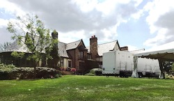 Ravencrest Castle is a beautiful location for an outdoor wedding or event - rent a restroom trailer to accommodate your guests