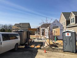 Superior Portables Onsite Portable Toilet Donation at Cleveland St. Jude Dream Home