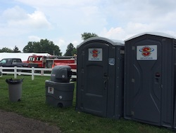 Portable restrooms kept Zoar Harvest Festival attendees comfortable