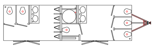 Interior Specifications for ten stall restroom trailer