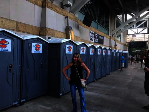Superior Portables Restrooms at Progressive Field