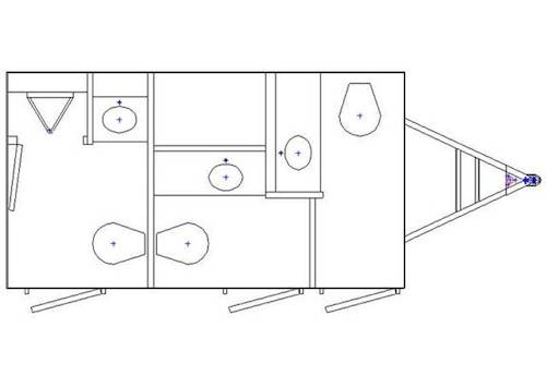 Specifications for Grand Luxury 3-Station Restroom Trailer