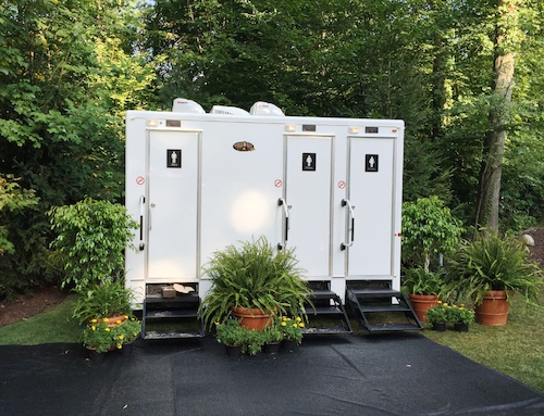 Superior Portables Grand Luxury 3-Station Restroom Trailer Outside