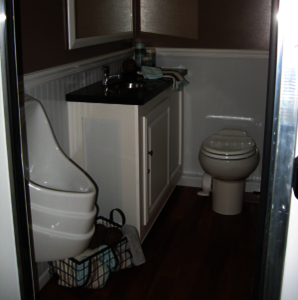 open floor plans allow for easy wheelchair access in our ada compliant restroom trailers