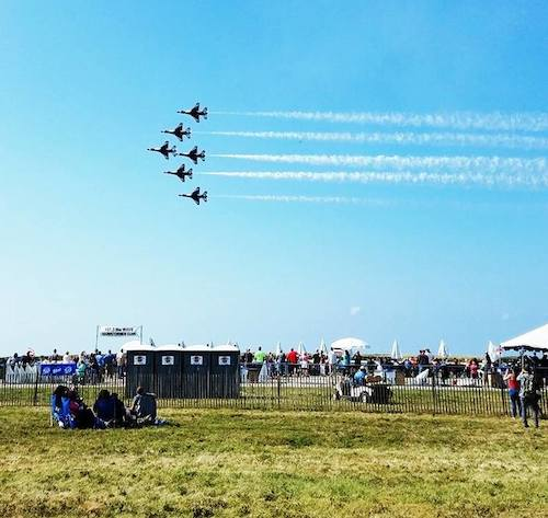 Superior Portables once again provided portable toilets at the 2017 Cleveland Air Show