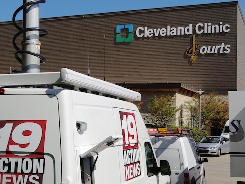 As Cleveland welcomed home LeBron James, Superior Speedie kept the media comfortable with restroom trailers