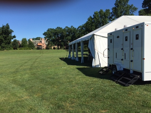 Hosting an outdoor wedding - contact us for reasonable restroom trailer rentals