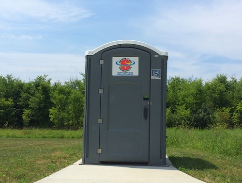 Handicap porta potties at Wood Hollow Metro Park in Summit County