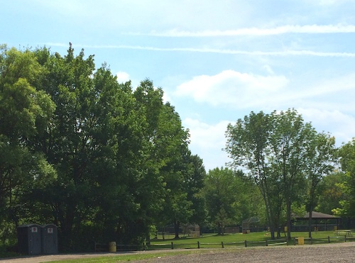Beautiful Oak Grove Park in Hudson uses portable toilets from Superior Speedie