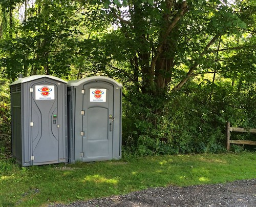 Standard and Handicap Accessible Porta Potties at Oak Grove Park