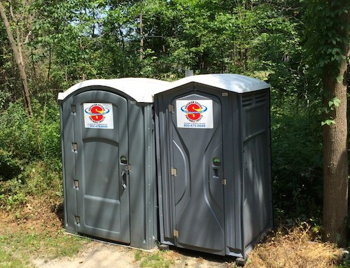 Porta Potties in Hudson Ohio's Oak Grove Park