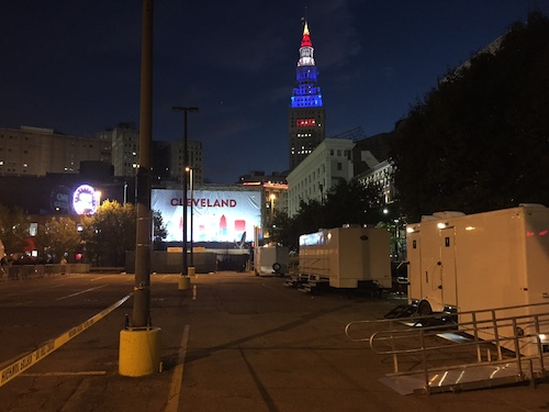 Restroom Trailers kept secret service staff comfortable during the Republican National Convention in Cleveland