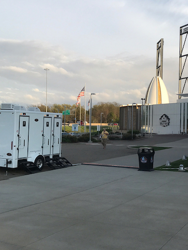 Superior Portables is proud to provide restrooms for Hall of Fame events