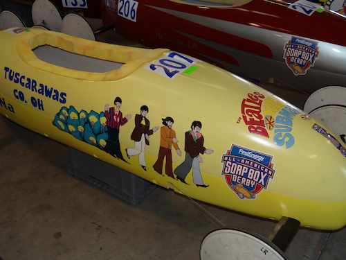 Yellow Submarine Car at the All American Soap Box Derby