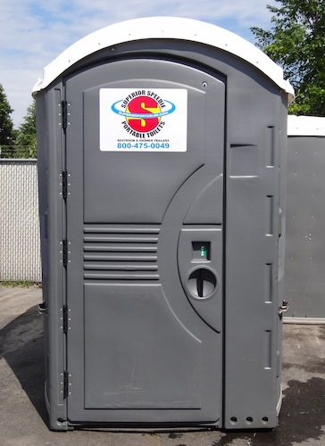 Exterior View of ADA Compliant Portable Toilet from Superior Portables