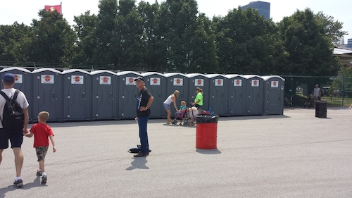 Superior Speedie provided portable restrooms to the Cleveland Air Show