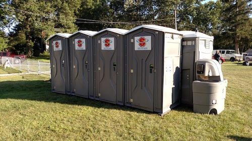 Portable restrooms & hand wash stations at Taste of Akron event