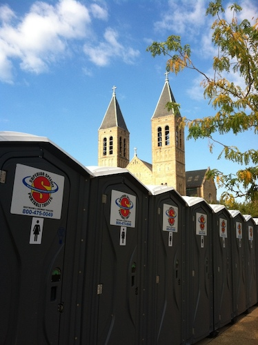 Portable Restrooms on the route at the Akron Marathon