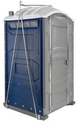 Rooftop porta potty with crane lift kit