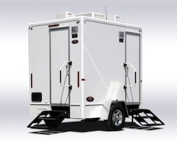 Superior Portables Diamond Series 2-Stall Restroom Trailer Exterior